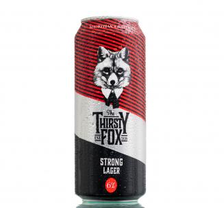 The Thirsty Fox Strong Lager can